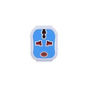 مشترك كهربائى، 3 منافذ - أزرق