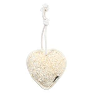 لوفة استحمام شكل قلب وريتكس - اصفر