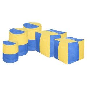 طقم بين باج فيوتشر، 5 قطع - اصفر ازرق