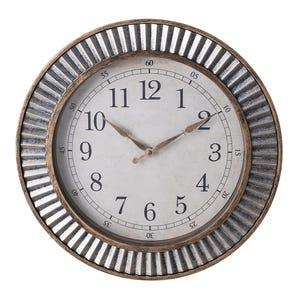 ساعة حائط مستديرة ستارز، 41 سم - نحاسي