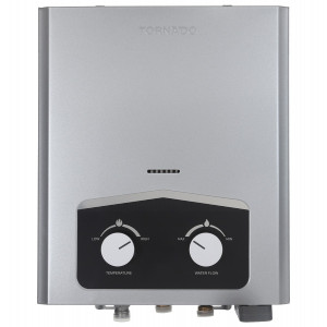 سخان مياه غاز ديجيتال تورنيدو، 6 لتر، GH-6SN-S - فضي