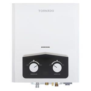 سخان مياه غاز ديجيتال تورنيدو، 6 لتر، GH-6SN-W - ابيض