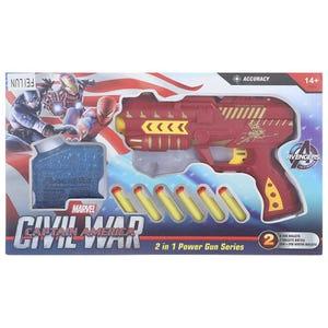 لعبة مسدس نيشان فيلين، 9 قطع - احمر
